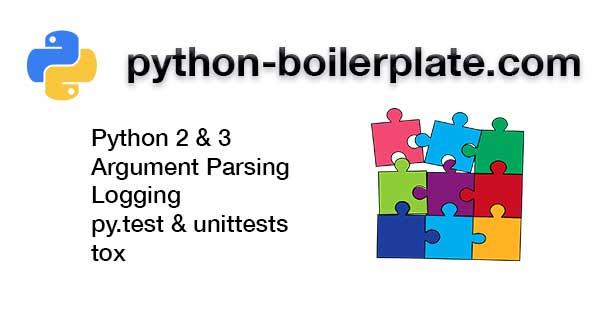 Python 3 boilerplate with logging